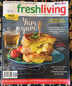 Frederica Marchesini in Fresh Living magazine March 2017