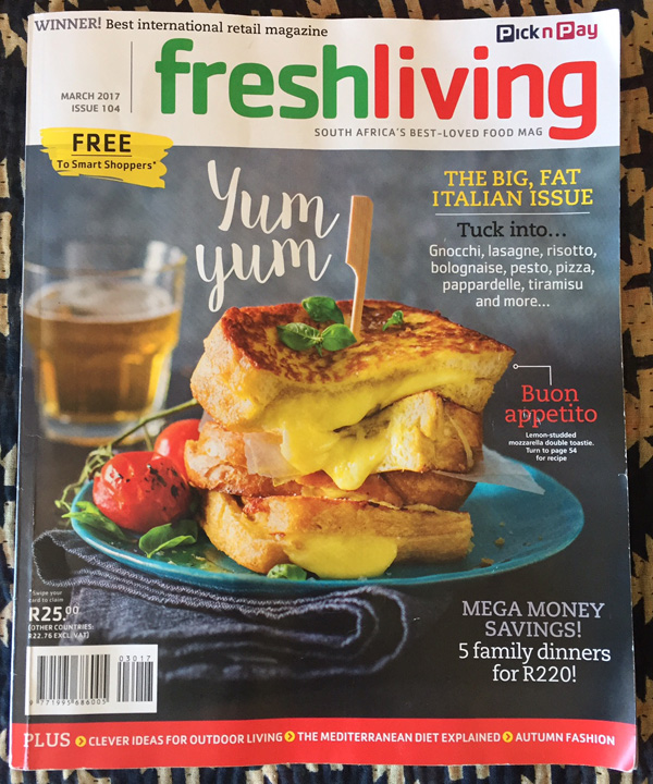 Frederica Marchesini in Fresh Living magazine March 2017