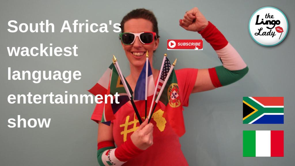 South Africa's wackiest language entertainment show. Lingo School, Capetown.
