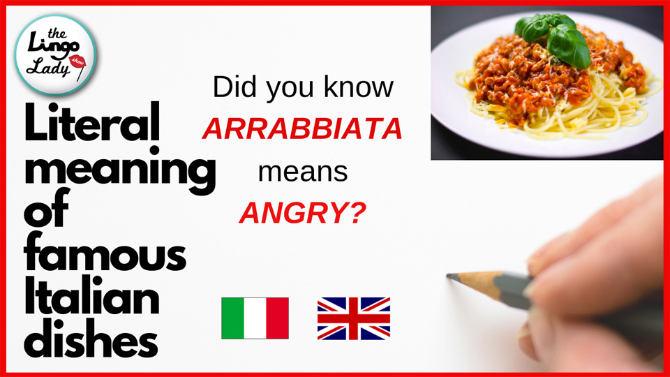 Literal meaning of Italian Food in ENGLISH