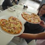 pizza heart making lingo school